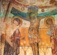 Affreschi della chiesa rupestre di S. Nicola dei Greci nei Sassi di Matera