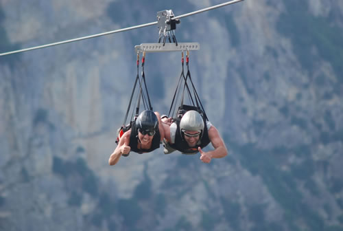 The couple flight